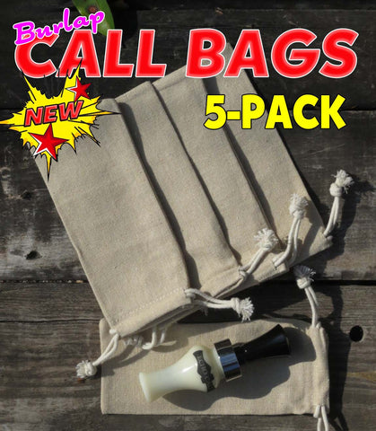 BAGS - CALL BAGS BURLAP 5-PACK - A Ducks USA Exclusive!! Duck & Goose Call Bags