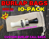 BAGS - CALL BAGS CREAM CANVAS 10-PACK - Great for Duck & Goose Calls!!!