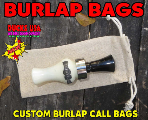 BAGS - BURLAP Call Bag 5-PACK - Great for Duck & Goose Calls