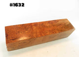 "WOOD - BURL CHERRY TURNING BLANK 1.5"" x 1.5"" x 6"" Premium Burl #1632"