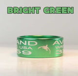 BANDS - ANODIZED Bird Band Replicas Laser Engraved FULL WRAP U-PICK COLOR 1PK