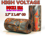 "ACRYLIC BARREL - HIGH VOLTAGE Exotic Swirl 2.7"" x 1.4"" OD & 5/8"" Bore - 1 BARREL"