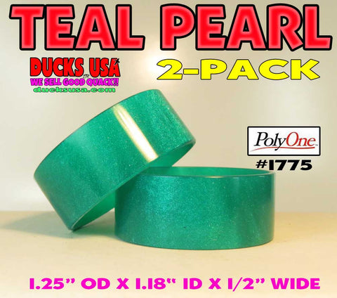 BANDS - ACRYLIC TEAL PEARL Premium Poly One #1775 Cut on CNC Super Nice 2-Pack