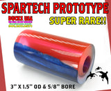 "ACRYLIC BARREL -  BLUE PEARL & FLUORESCENT RED  PROTOTYPE BARREL BLANK  2.7"" x 1.4"" OD & 5/8"" Bore - 1 BARREL"