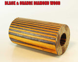DIAMOND WOOD  - BLACK & ORANGE Diamond Wood Style Barrel Blank HOT NEW COLOR!!