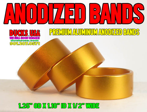 "BANDS - ANODIZED GOLD BANDS 1.25"" OD X 1.10"" ID X .5"" WIDE Special 5-PACK"