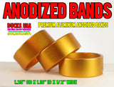 "BANDS - ANODIZED GOLD BANDS 1.25"" OD X 1.10"" ID X .5"" WIDE Special 3-PACK"