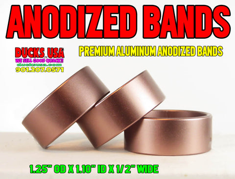 "BANDS - ANODIZED BRONZE BANDS 1.25"" OD X 1.10"" ID X .5"" WIDE Special 3-PACK"