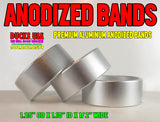 "BANDS - ANODIZED SILVER BANDS Premium Aluminum 3-PACK - 1.25"" OD X 1.10"" ID X .5"" WIDE"