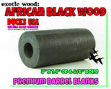 WOOD - AFRICAN BLACKWOOD  Barrel Blank, Insert Blank, or Combo U-PICK
