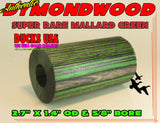 "DYMOND WOOD - AUTHENTIC MALLARD GREEN Barrel Blank ""Ready to Shape"""