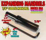 "MANDREL - 7/8"" GOOSE EXPANDING MANDREL Straight Shaft Listing for One Mandrel"