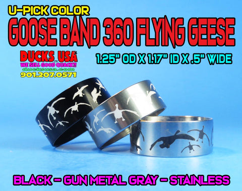 BANDS - 360 FLYING GEESE U-PICK COLOR BLACK, GRAY, OR STAINLESS 1 OR MORE!!