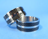 BANDS - STAINLESS STEEL PREMIUM INLAID CUSTOM BANDS U-PICK STYLE ABW, COCO, CARBON FIBER