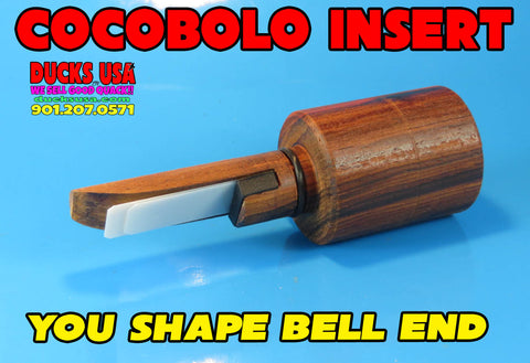 INSERT - U-SHAPE COCOBOLO INSERT Pre-drilled with O-Ring Awesome Timber Tone!!