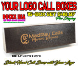 BOXES - CALL BOXES BLACK HARD STYLE with YOUR LOGO laser Engraved 15-BOX SET