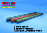 "DYMOND WOOD - AUTHENTIC 7/8"" OD DOWELS IN THREE GREAT COLORS 7/8"" OD x 12"""