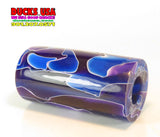 "ACRYLIC BARREL - MIDNIGHT SWIRL Barrel Blank 2.7"" x 1.4"" OD & 5/8"" Bore"
