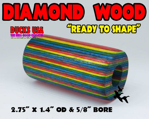 DIAMOND WOOD  - MULTI-COLORED HOT NEW COLOR Diamond Wood Style Barrel