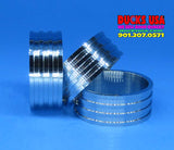 "BANDS - STAINLESS GROOVED POLISHED STAINLESS STEEL  - 1.25"" OD X .5"" WIDE 1-BAND"