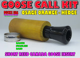 GOOSE CALL KIT - Canada Goose Call Hedge Barrel & Polycarb Insert w/Short Reed Guts