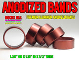 "BANDS - ANODIZED BROWN BANDS 1.25"" OD X 1.10"" ID X .5"" WIDE Special 5-PACK"