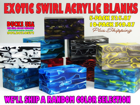 ACRYLIC -  EXOTIC SWIRL HOT SALE 5-PACK OR 10-PACK HUGE DISCOUNT!!!