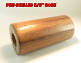 "WOOD - WALNUT BARREL Blank 2.7"" X 1.4"" OD with 5/8"" Bore Great Barrel Blanks!"