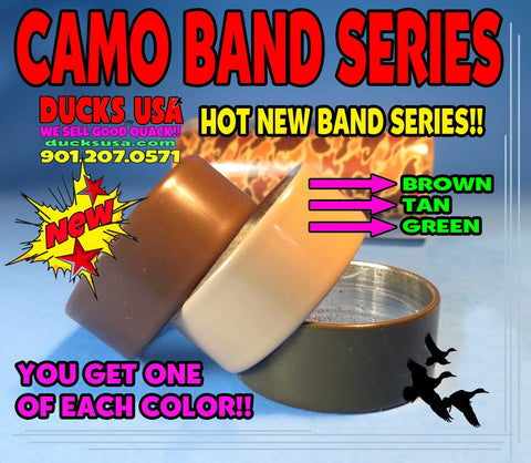 "BANDS - POWDER COAT SERIES NEW CAMO STYLE  1.25"" OD x 1.17"" ID x .5"" Wide 3-PACK"