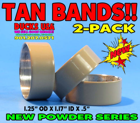 "BANDS - POWDER COAT SERIES TAN Bands 2-PACK 1.25"" OD X .5"" Wide"