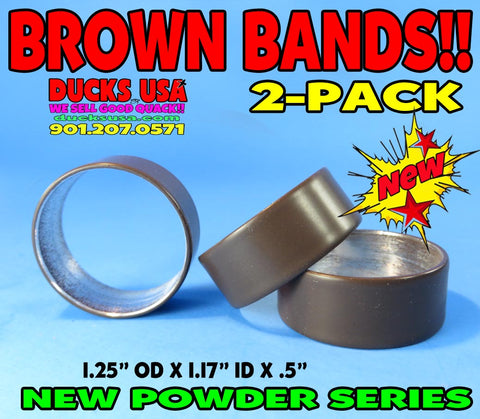 "BANDS - POWDER COAT SERIES BROWN Bands 2-PACK 1.25"" OD X .5"" Wide"