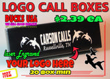 BOXES - Call Boxes with YOUR LOGO Laser Engraved - 20-BOX SET ONLY $47.79
