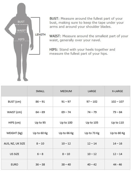 Flapper Boutique Size Chart 1