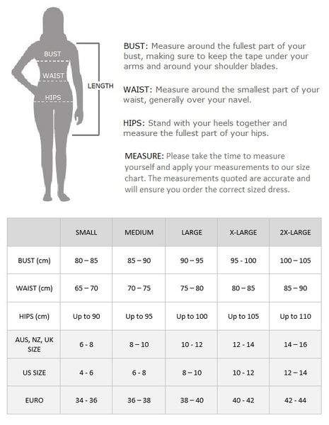 Fringe flapper dress size chart