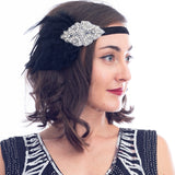 1920s Black & Silver Deco Flapper Headband