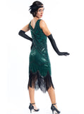 Plus Size Green Flapper Dress