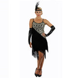 Black Latin Flapper Dance Dress
