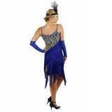 Blue Latin Flapper Dance Dress Back