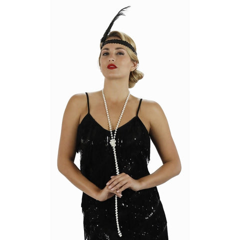1920s Flapper Faux Pearl Necklace