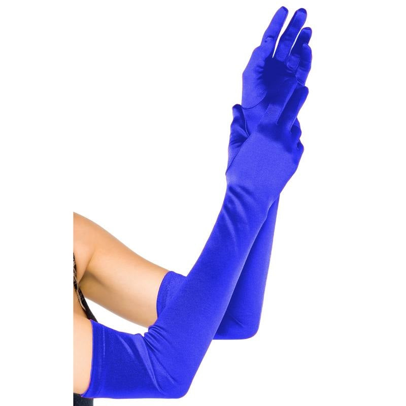 Long Blue Gloves