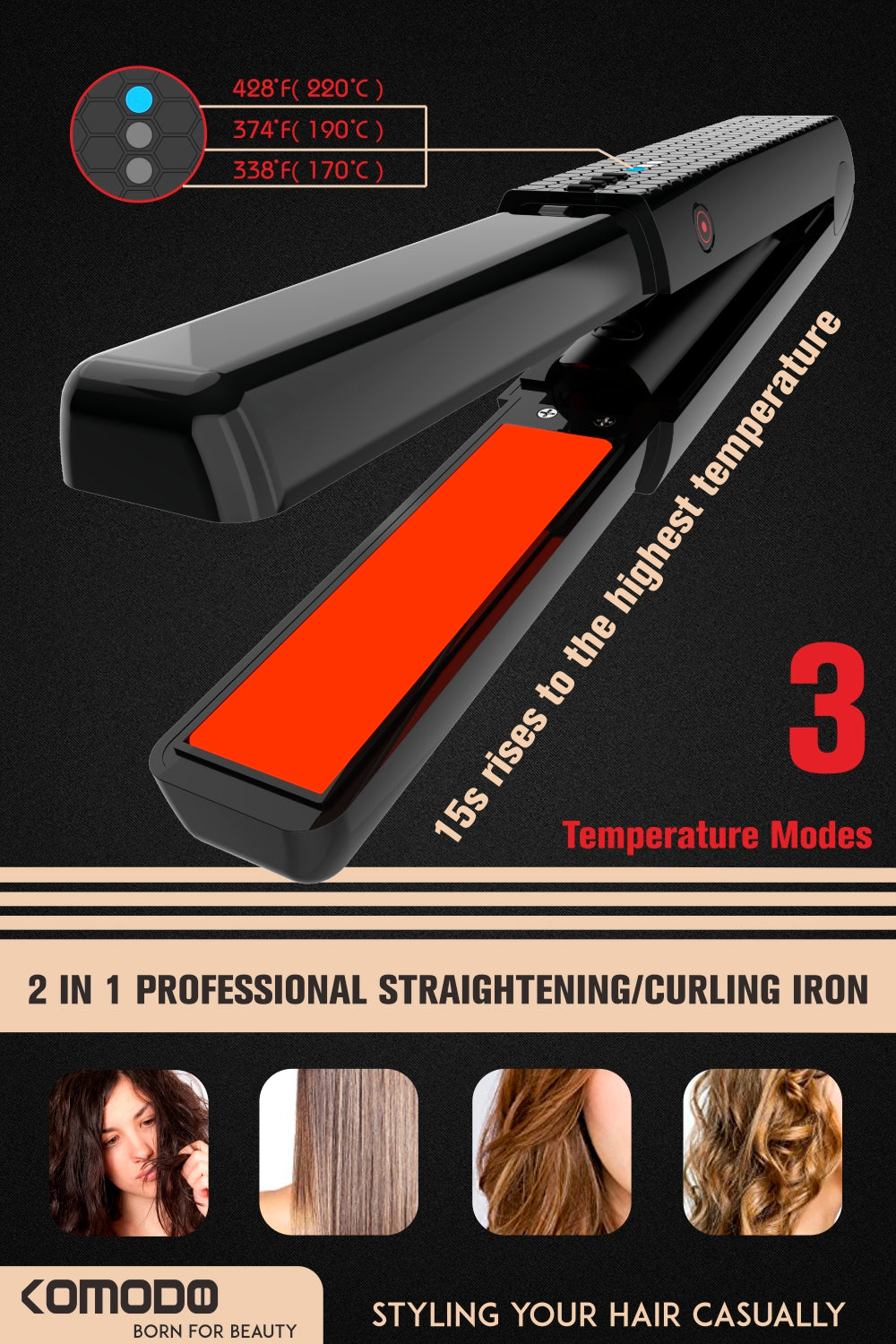 cordless flat iron for trabel