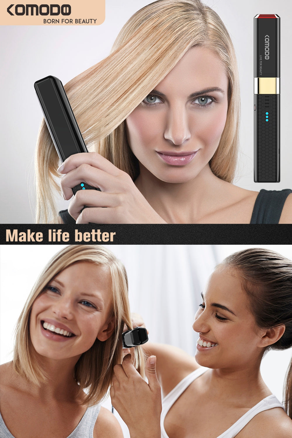cordless flat iron for travel