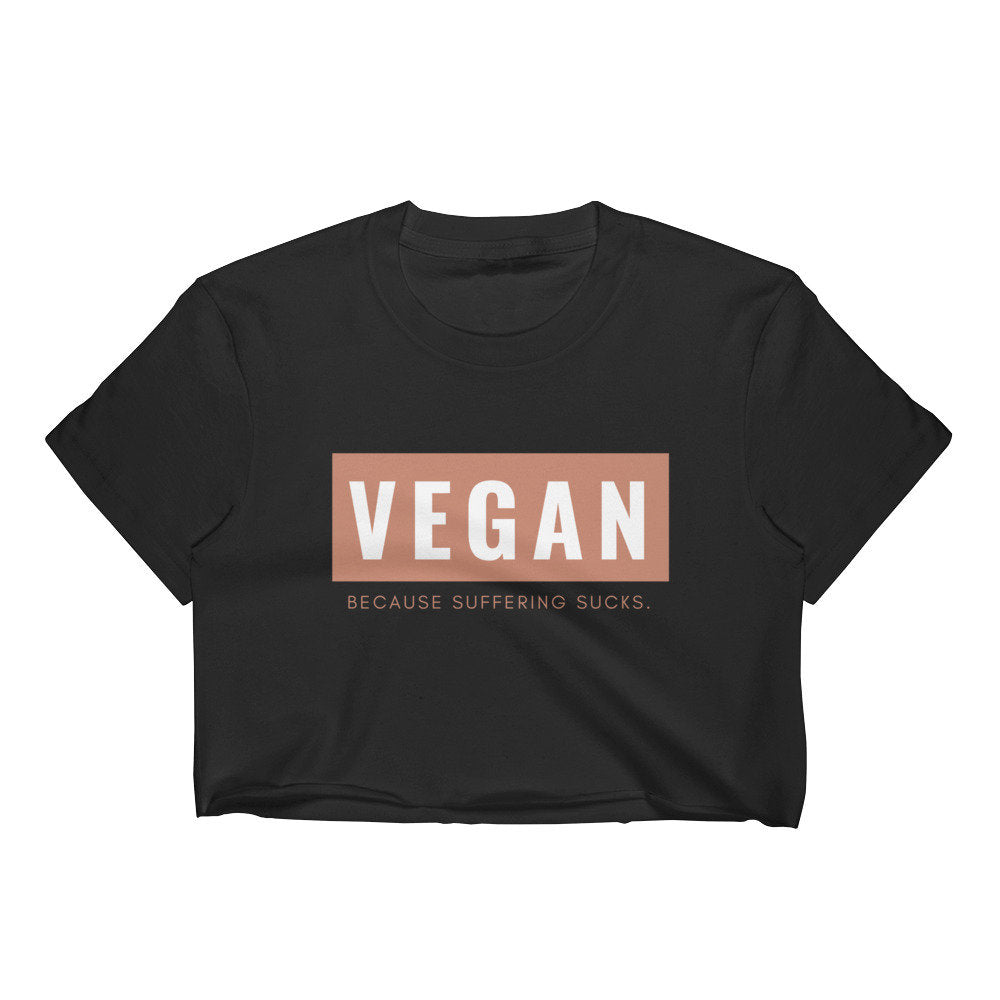 Vegan Sucks Black Crop Top