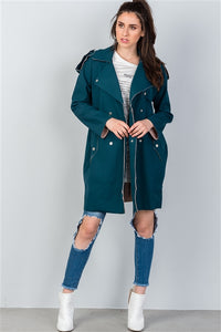 Hunter | Raw Hem Long Jacket - liarboutiques