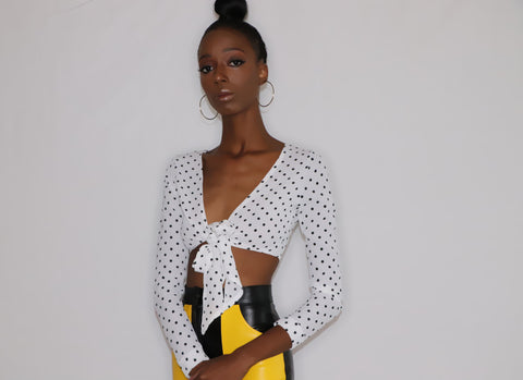 Dottie | Polka Dot Tie Crop - liarboutiques