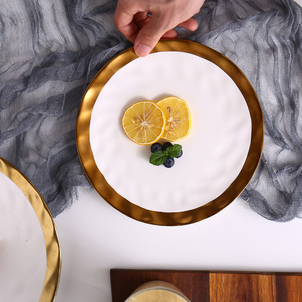 Pearl White Plate - Venetto Design