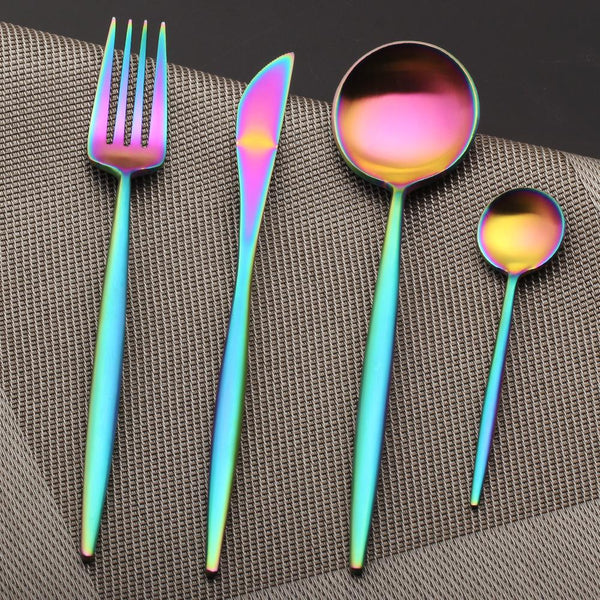 Flatware Arya Iridescent Cutlery Set - Venetto Design