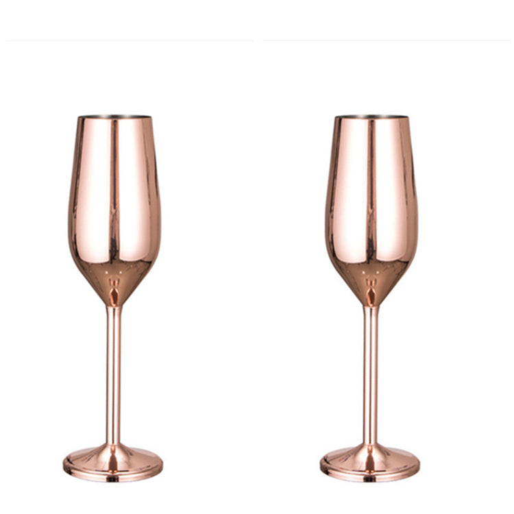 Ibiza Stainless Steel Glass - Venetto DesignROSE GOLD / Champaign Glass - 6 Pieces