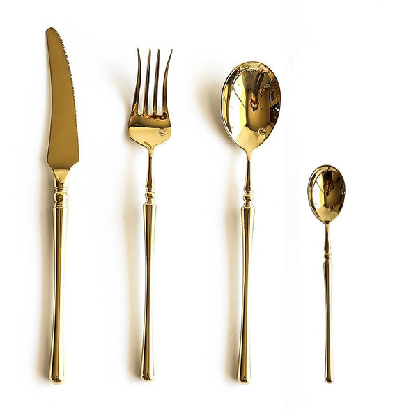 Rome Cutlery Set - Venetto DesignGold / 24 Pieces set