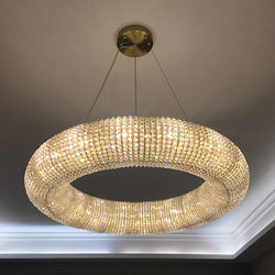 Esmeralda All-Around Crystal Wrapped Rounded Chandelier - Venetto Design